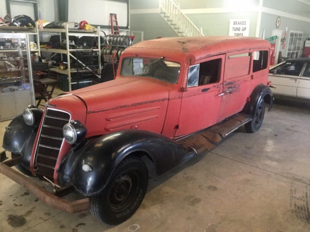 rare 1934 Oldsmobile Henney Hearse