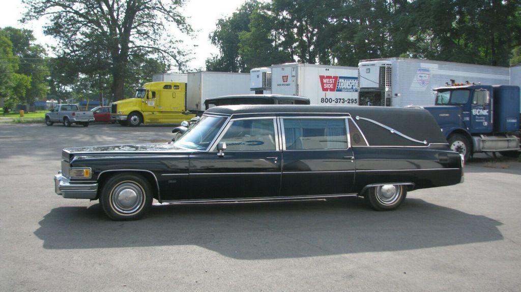1976 Cadillac S&S Victoria Hearse [runs well]