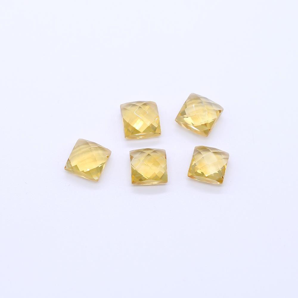 Citrine Square Briolette (Medium Color)
