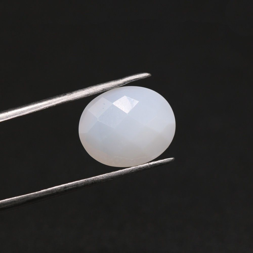 White Opal Oval Briolette