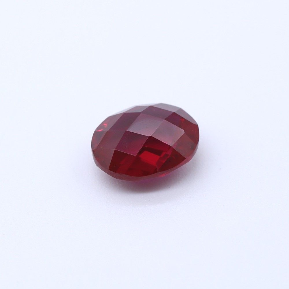 Ruby (Synthetic) Oval Briolette