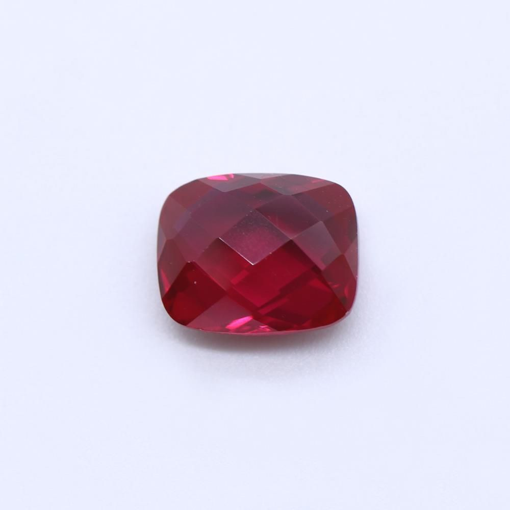 Ruby (Synthetic) Elongated Cushion Briolette