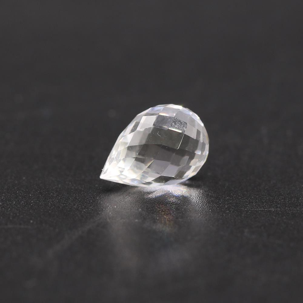 Crystal / White Quartz Drops Briolette