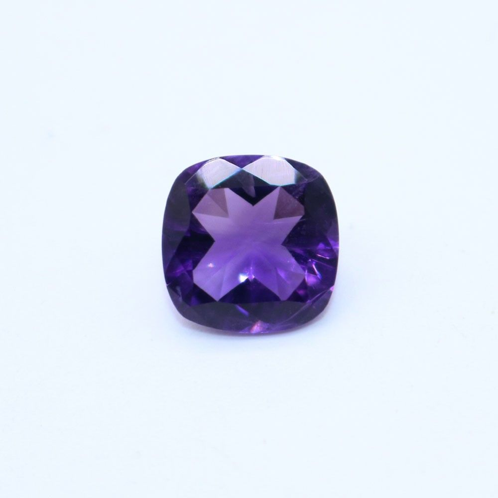 African Amethyst Cushion Faceted