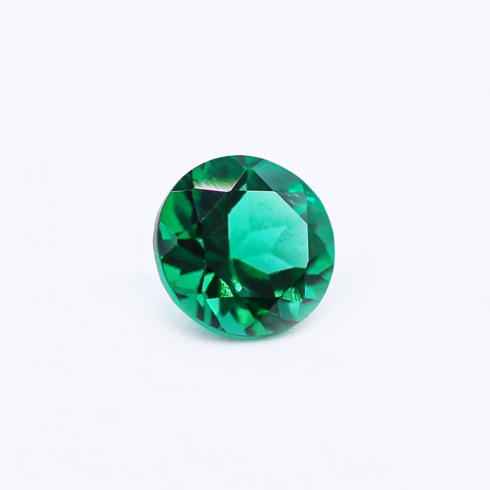 Created Emerald (Zambian Color) Round Faceted