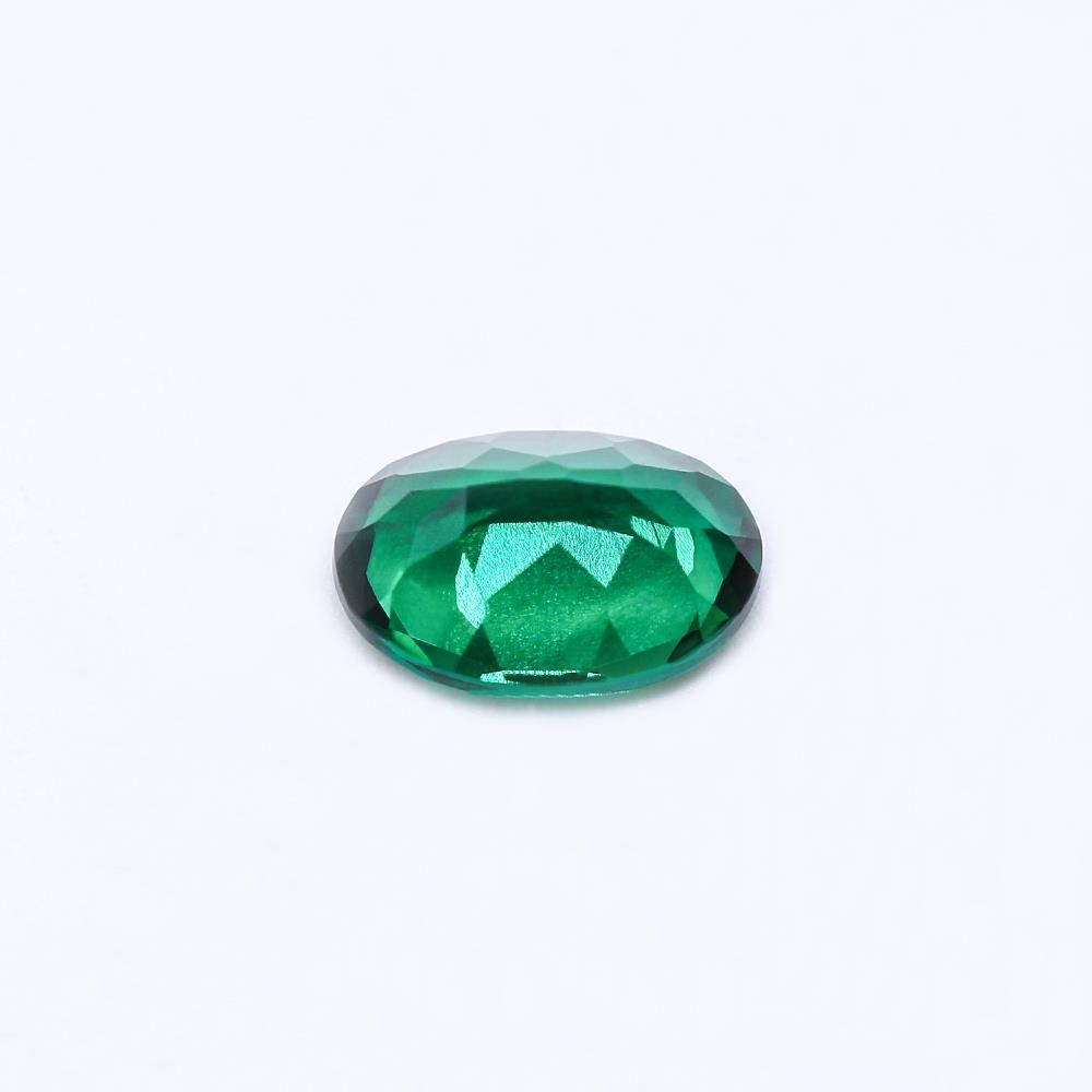 Created Emerald (Zambian Color) Oval Faceted