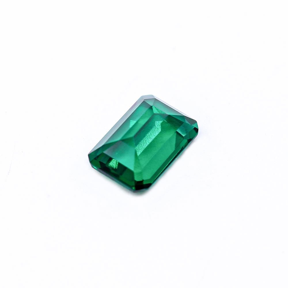 Created Emerald (Zambian Color) Octagon Faceted