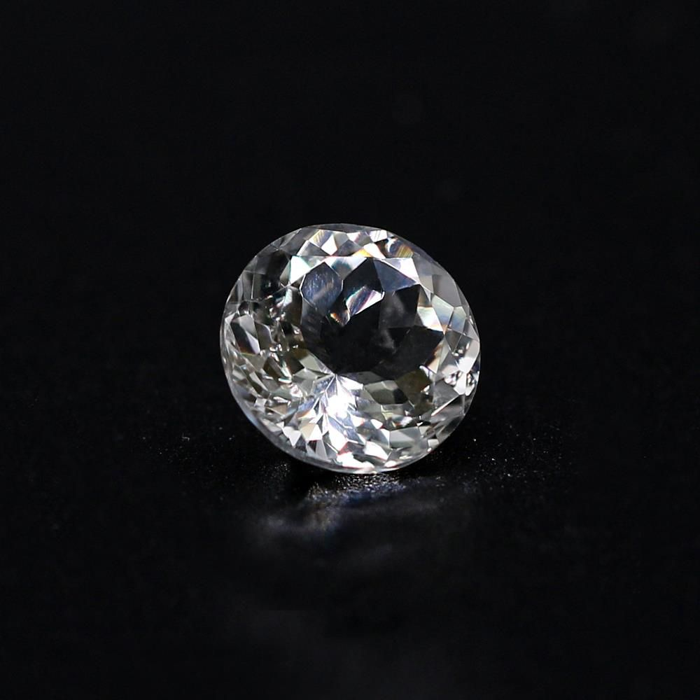 White Topaz Round Faceted