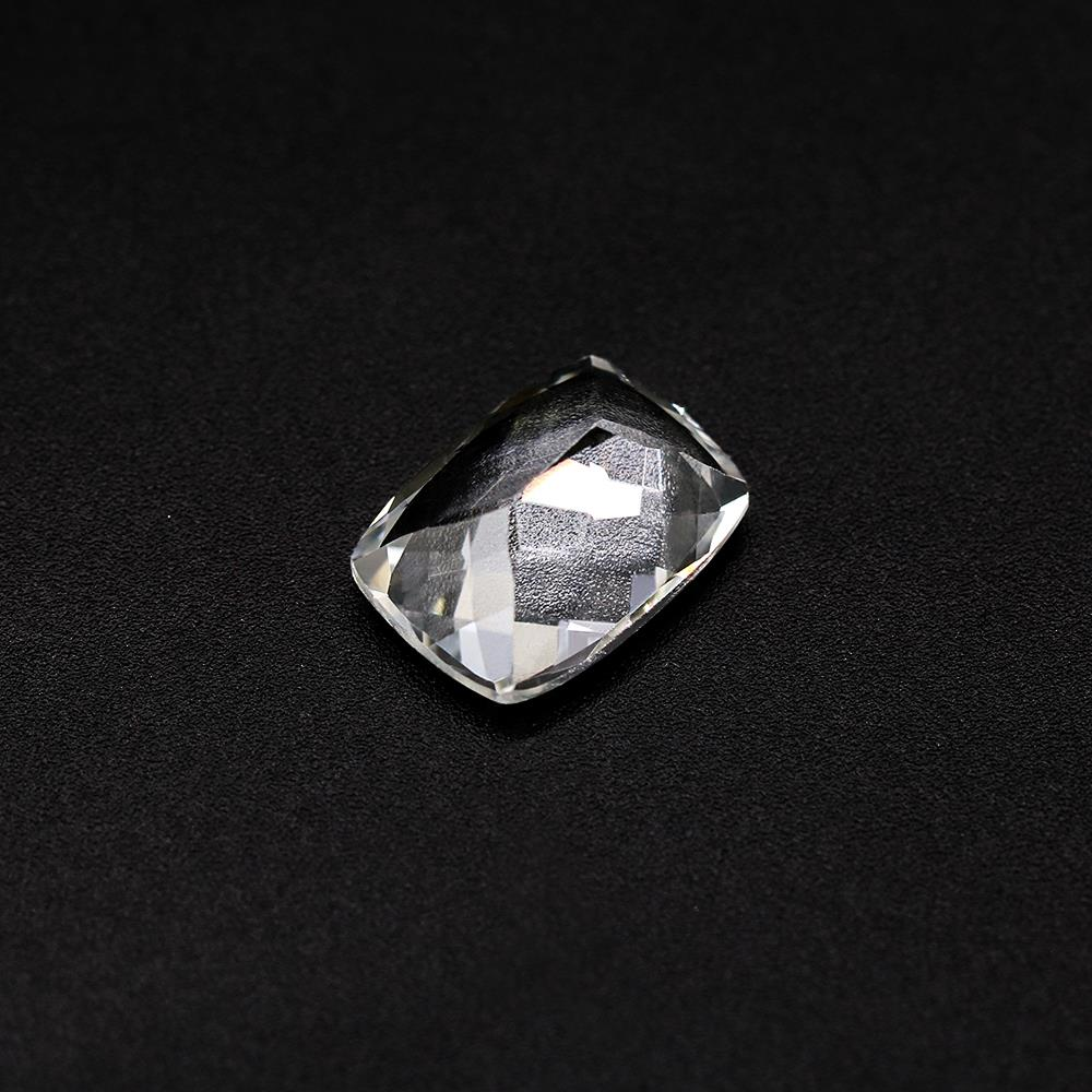 White Topaz Elongated Cushion Faceted