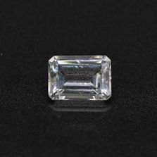 White Topaz Octagon Faceted
