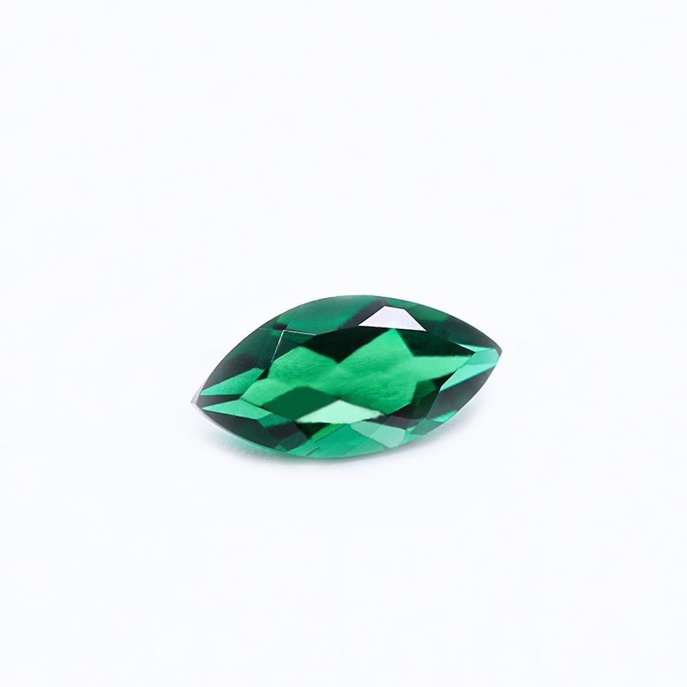 Created Emerald (Zambian Color) Marquise Faceted