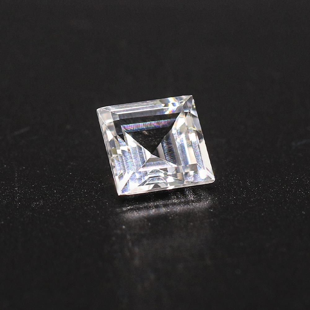 White Topaz Square Faceted