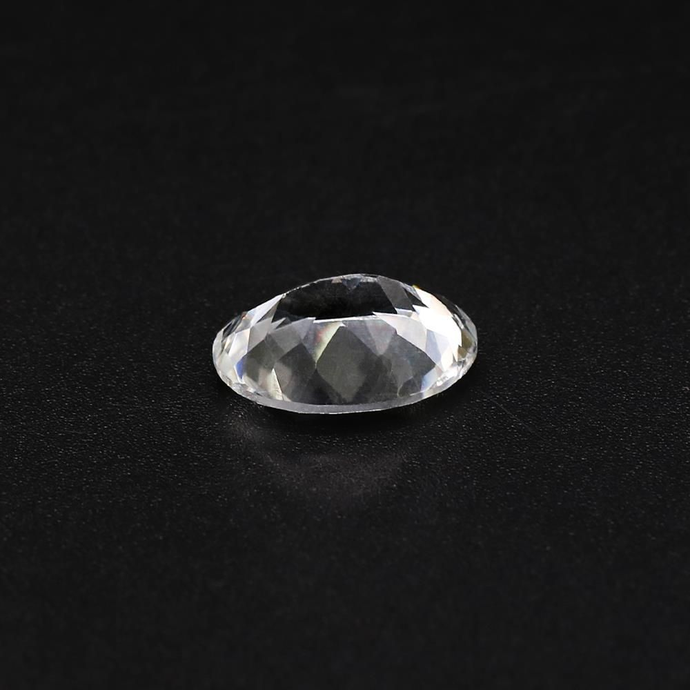 White Topaz Oval Faceted
