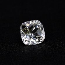 White Topaz Cushion Faceted