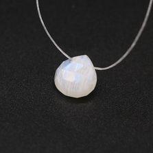 Rainbow Moonstone / White Labradorite Heart Shape Briolette (Tabeez)