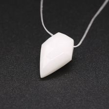 White Opal Kite Faceted