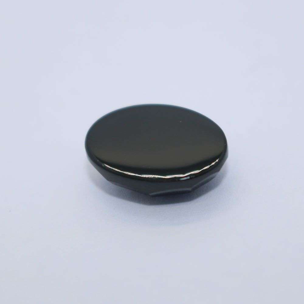 Black Spinel Oval Faceted Cab