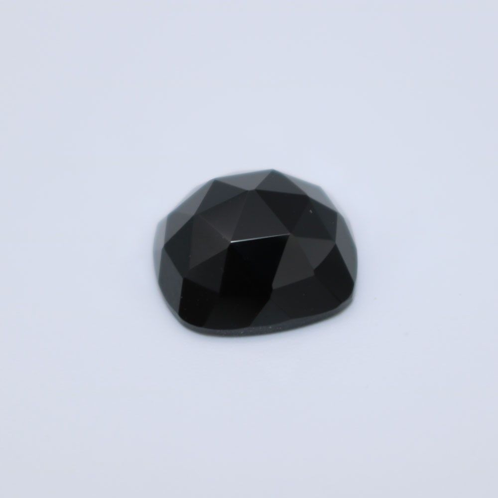 Black Spinel Cushion Faceted Cab