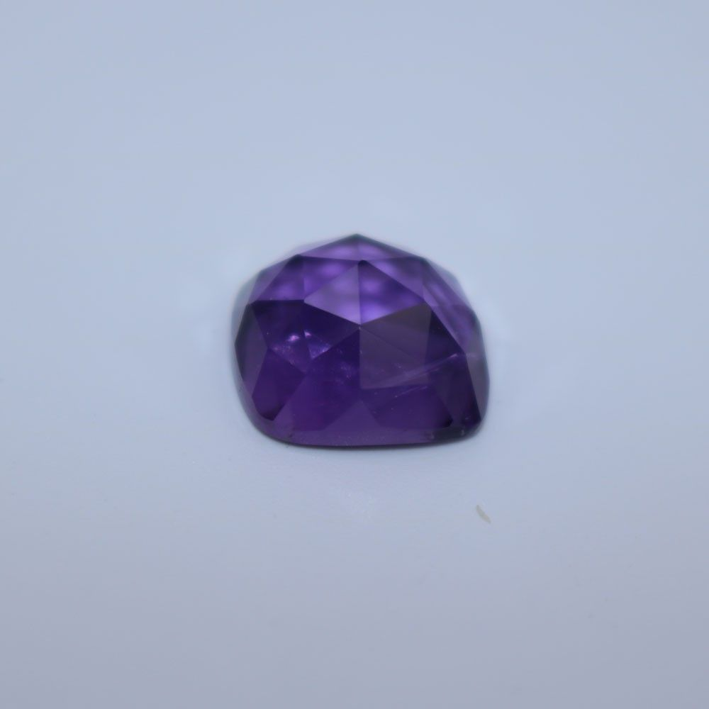 African Amethyst Cushion Faceted Cab