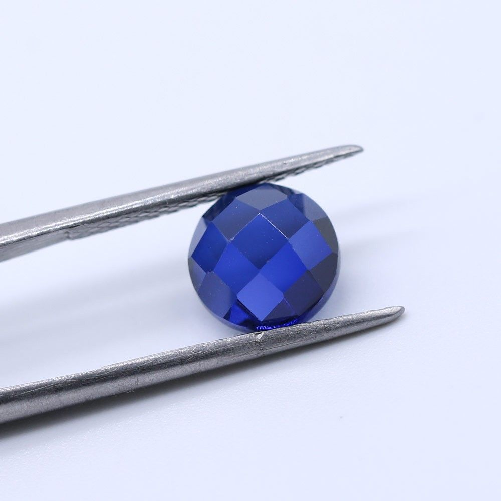 Sapphire (Synthetic) Round Faceted Cab