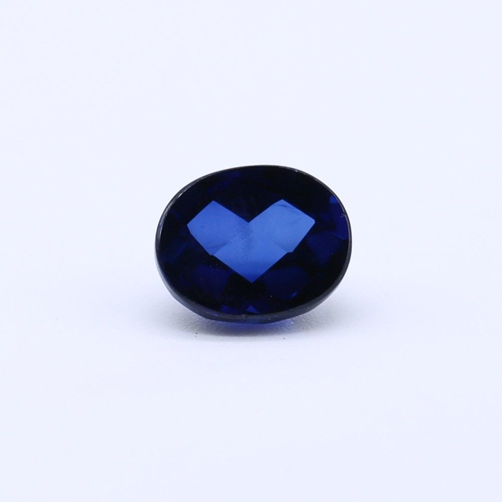 Sapphire (Synthetic) Oval Faceted Cab