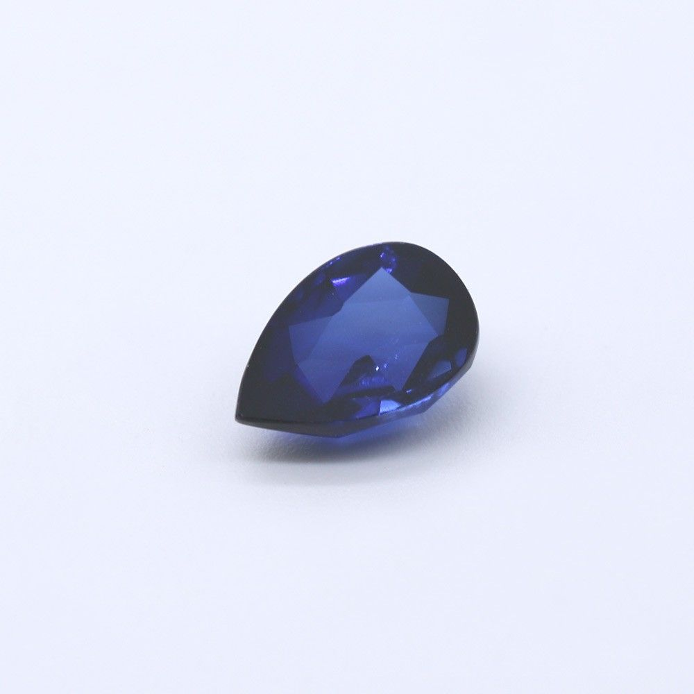 Sapphire (Synthetic) Pears Faceted Cab