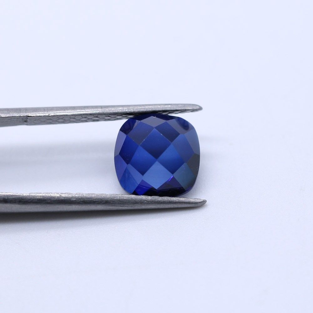 Sapphire (Synthetic) Cushion Faceted Cab