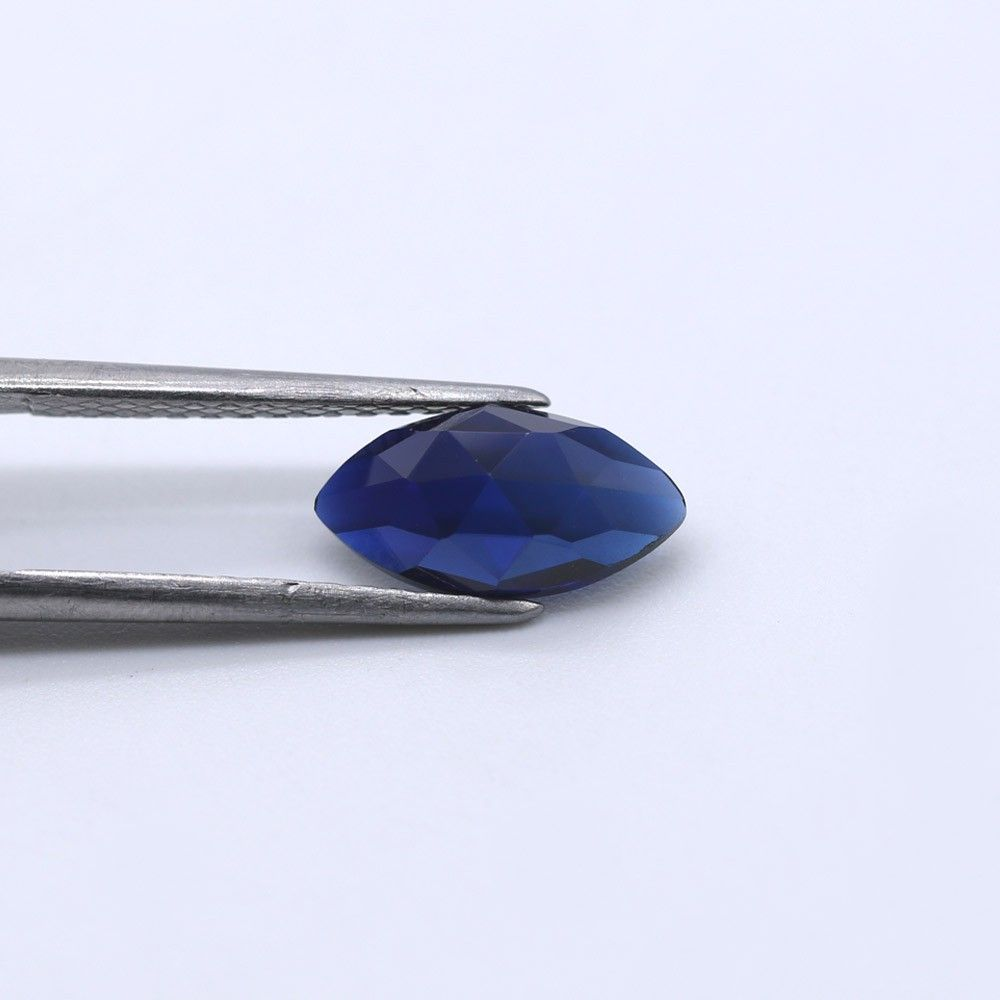 Sapphire (Synthetic) Marquise Faceted Cab