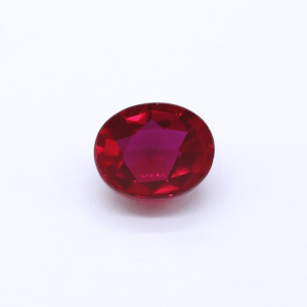 Ruby (Synthetic) Round Faceted Cab
