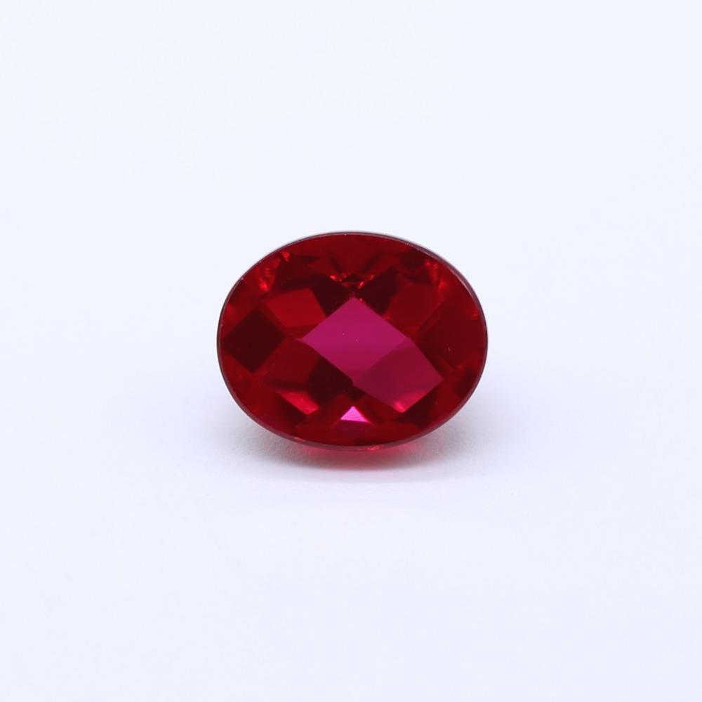 Ruby (Synthetic) Oval Faceted Cab