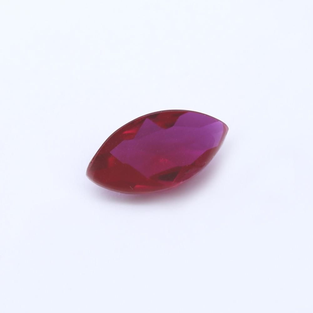 Ruby (Synthetic) Marquise Faceted Cab