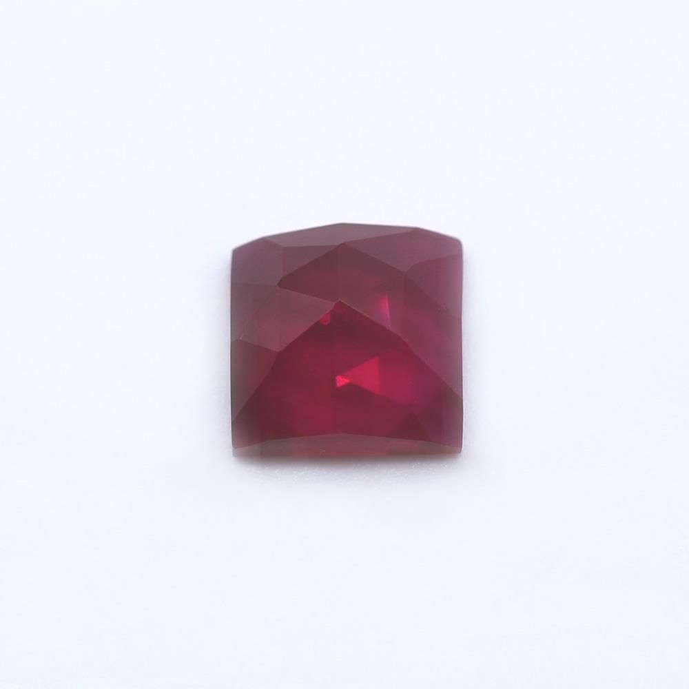 Ruby (Synthetic) Square Faceted Cab