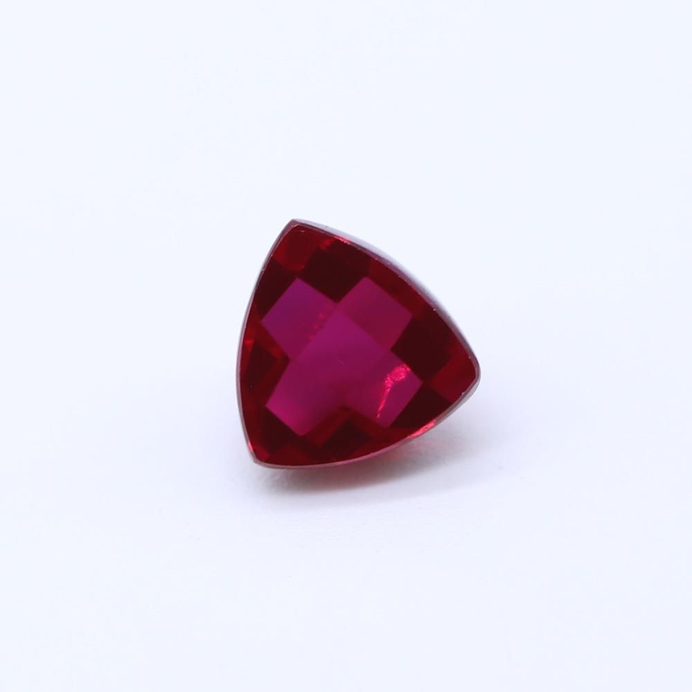 Ruby (Synthetic) Trillion Faceted Cab