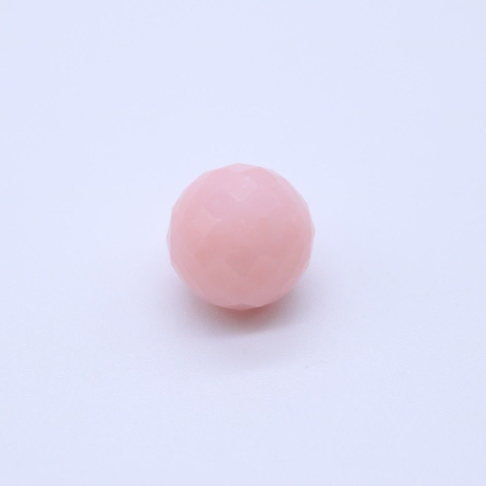 Pink Opal Faceted Round Balls
