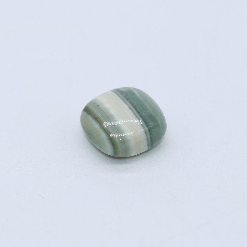 Green Striped Agate Smooth Cushion Briolette