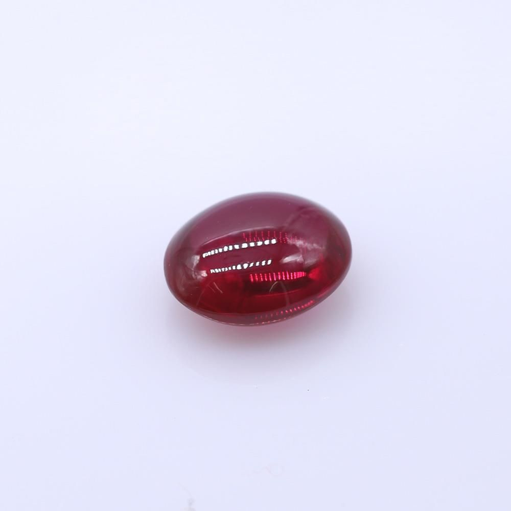 Ruby (Synthetic) Smooth Oval Briolette