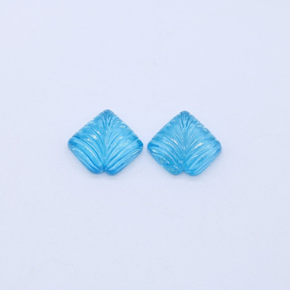 Carved Swiss Blue Topaz