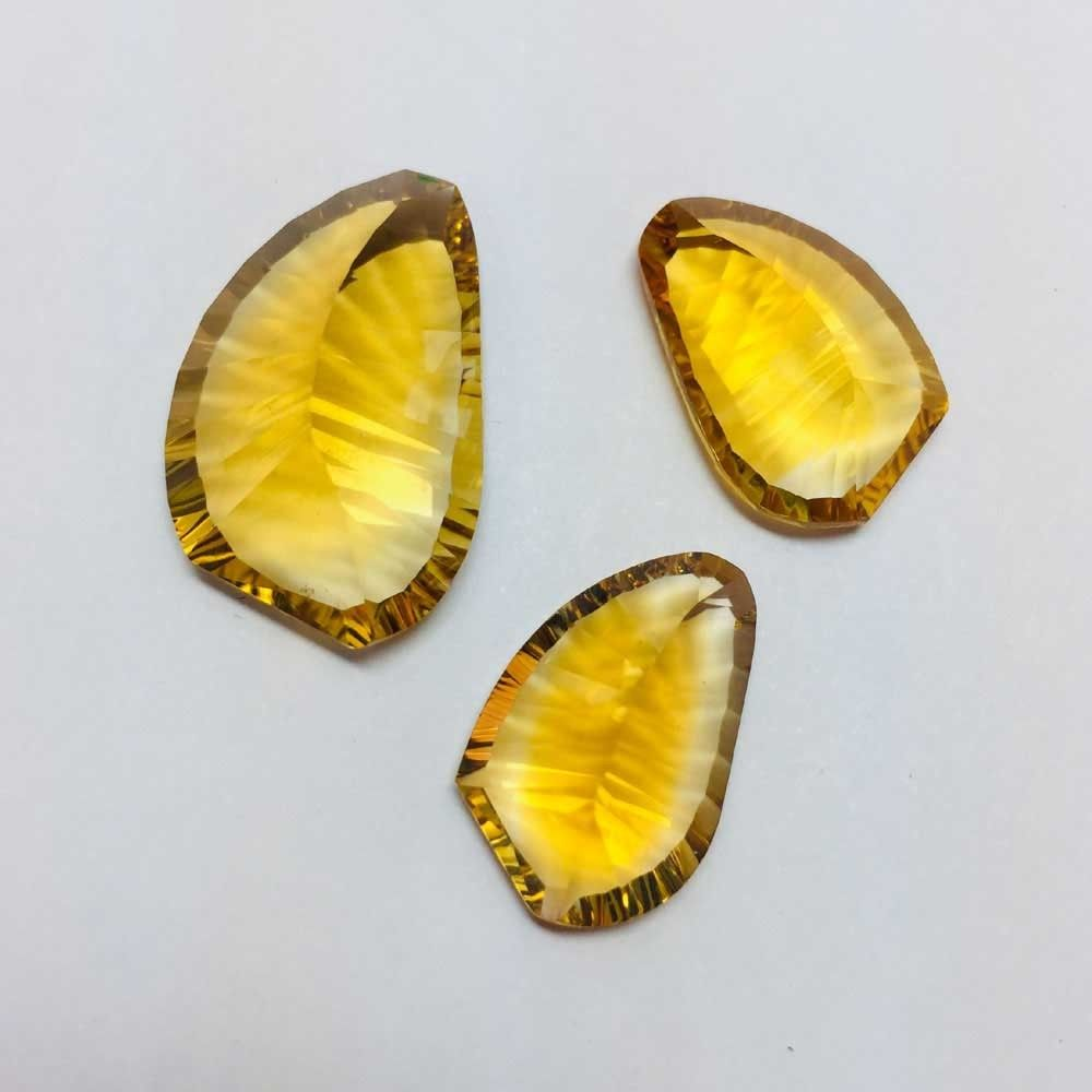 Citrine Concave Cut Fancy Shape Gemstone