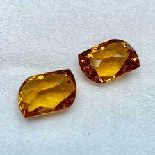 Citrine Fancy Shape Gemstone Pair
