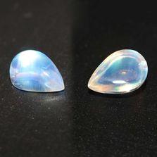 Rainbow Moonstone / White Labradorite 16x11 Pears Cabochon
