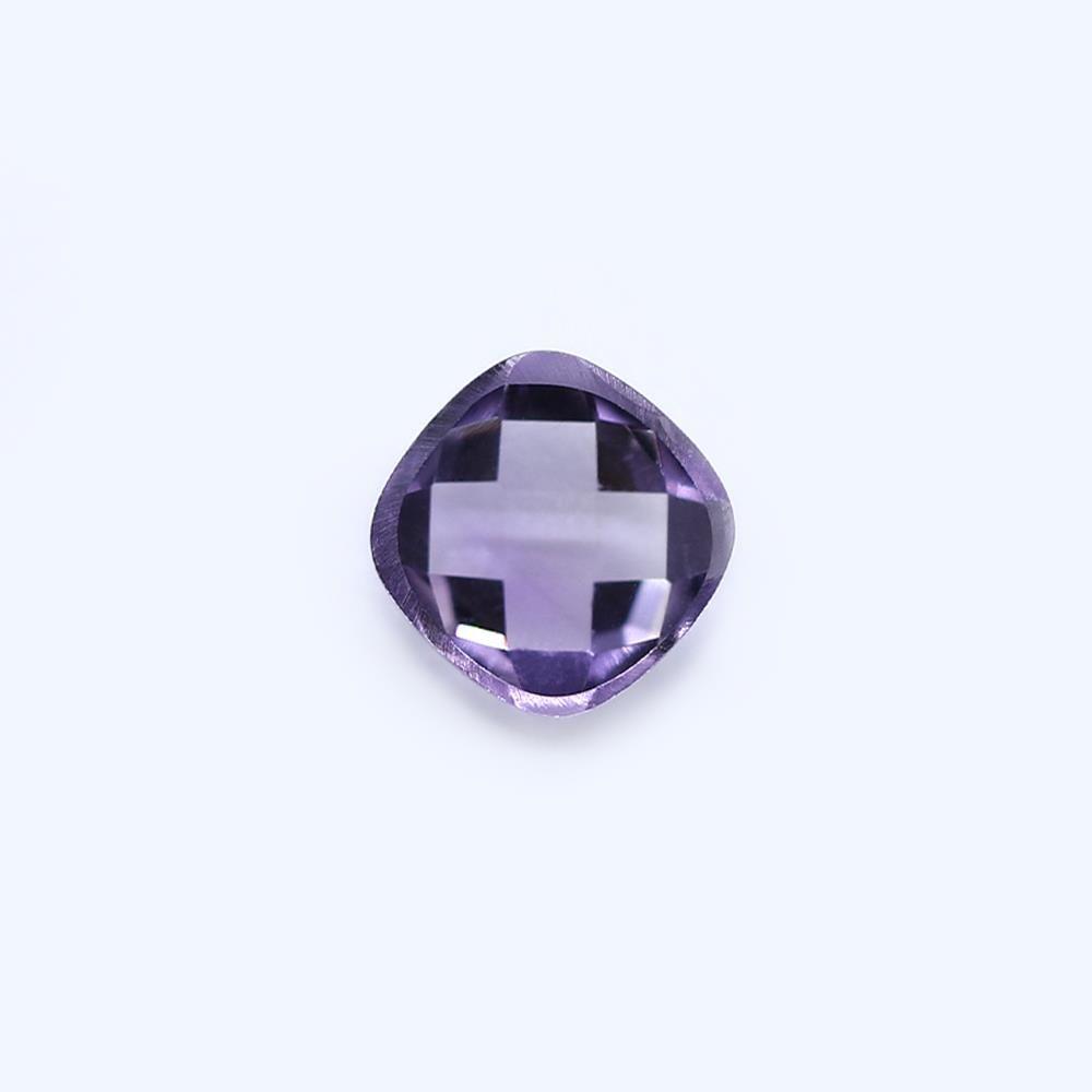 Amethyst (Brazilian) 8mm Cushion Faceted Cab (Checker Cut) (Light Color)