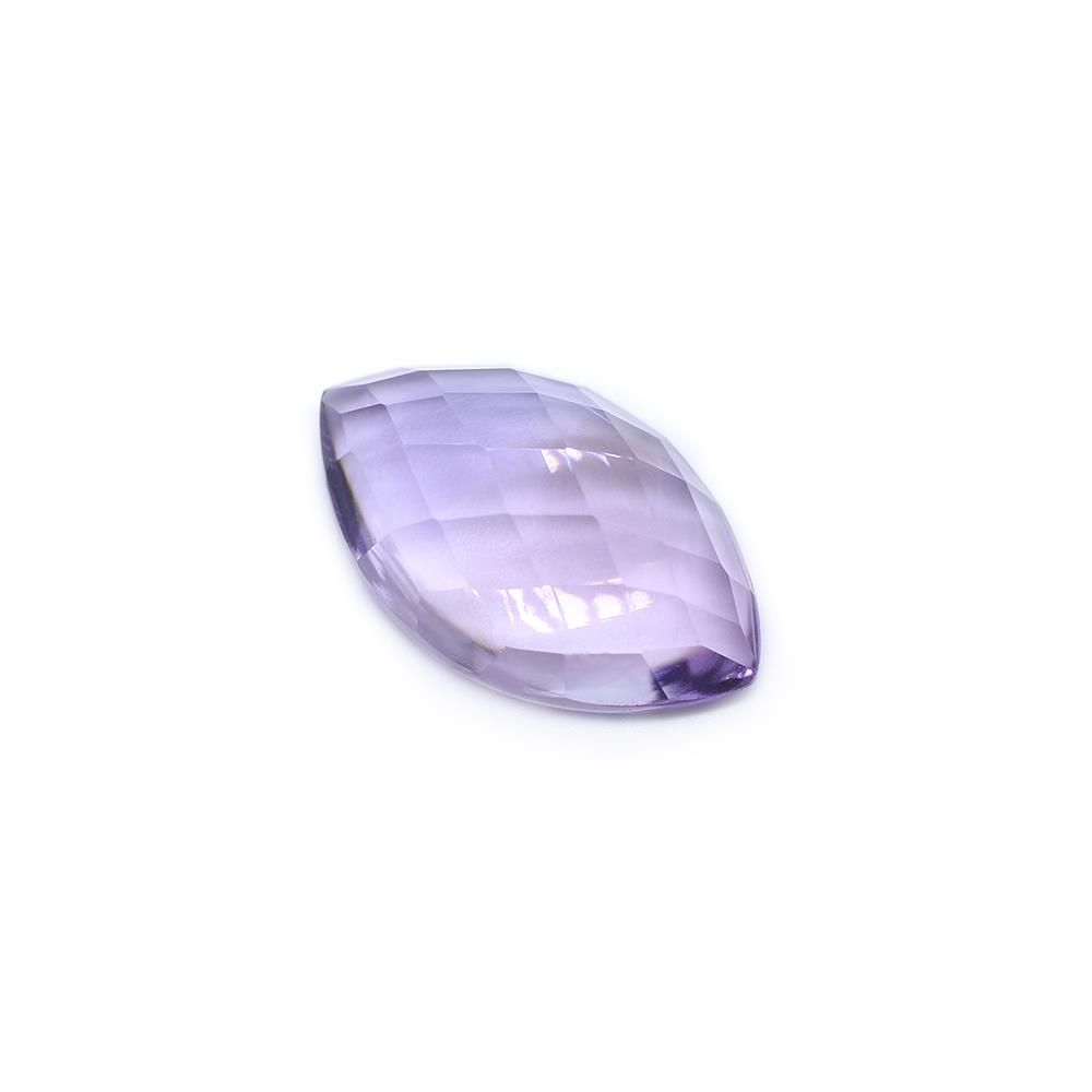 Amethyst (Brazilian) 23X14mm Marquise Faceted Cab (Checker Cut) (Light Color)