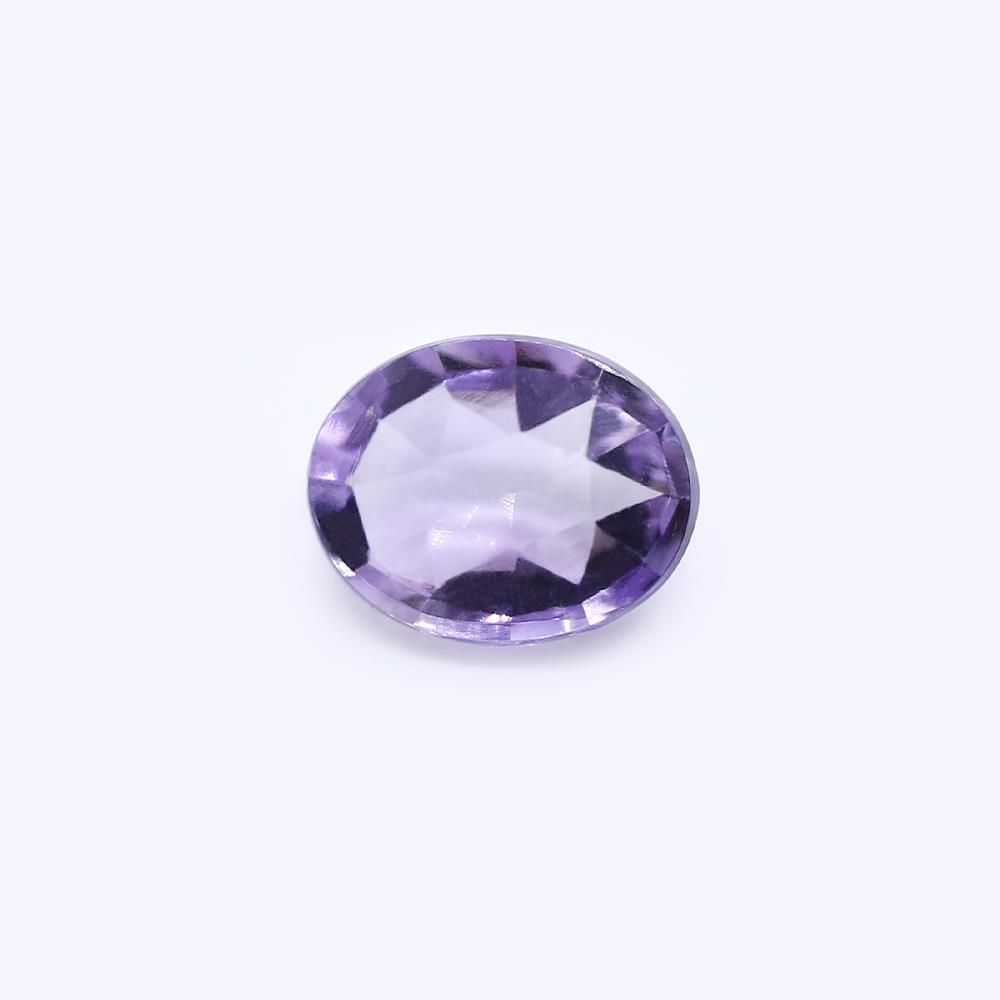 Amethyst (Brazilian) 10x8mm Oval Faceted Cab (Rose Cut) (Light Color)