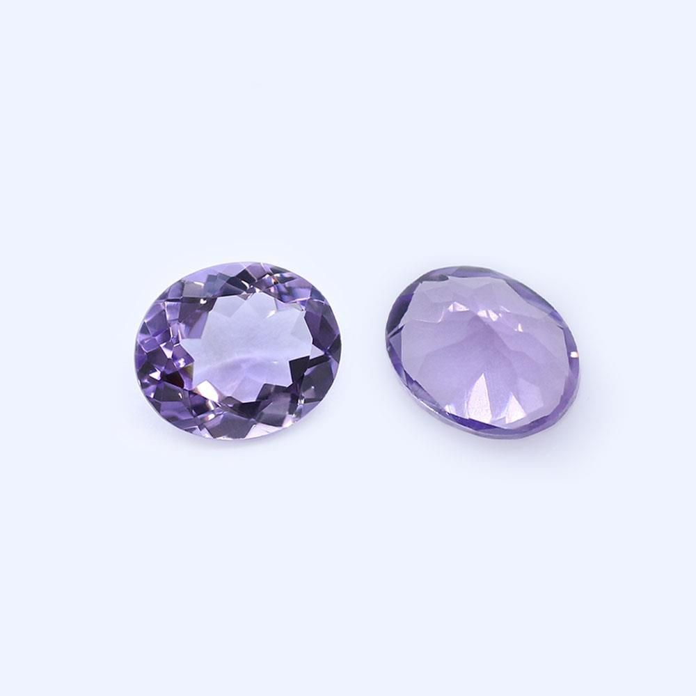 Amethyst (Brazilian) 10.30x8.30mm and 18x8mm Oval Faceted (Light Color)