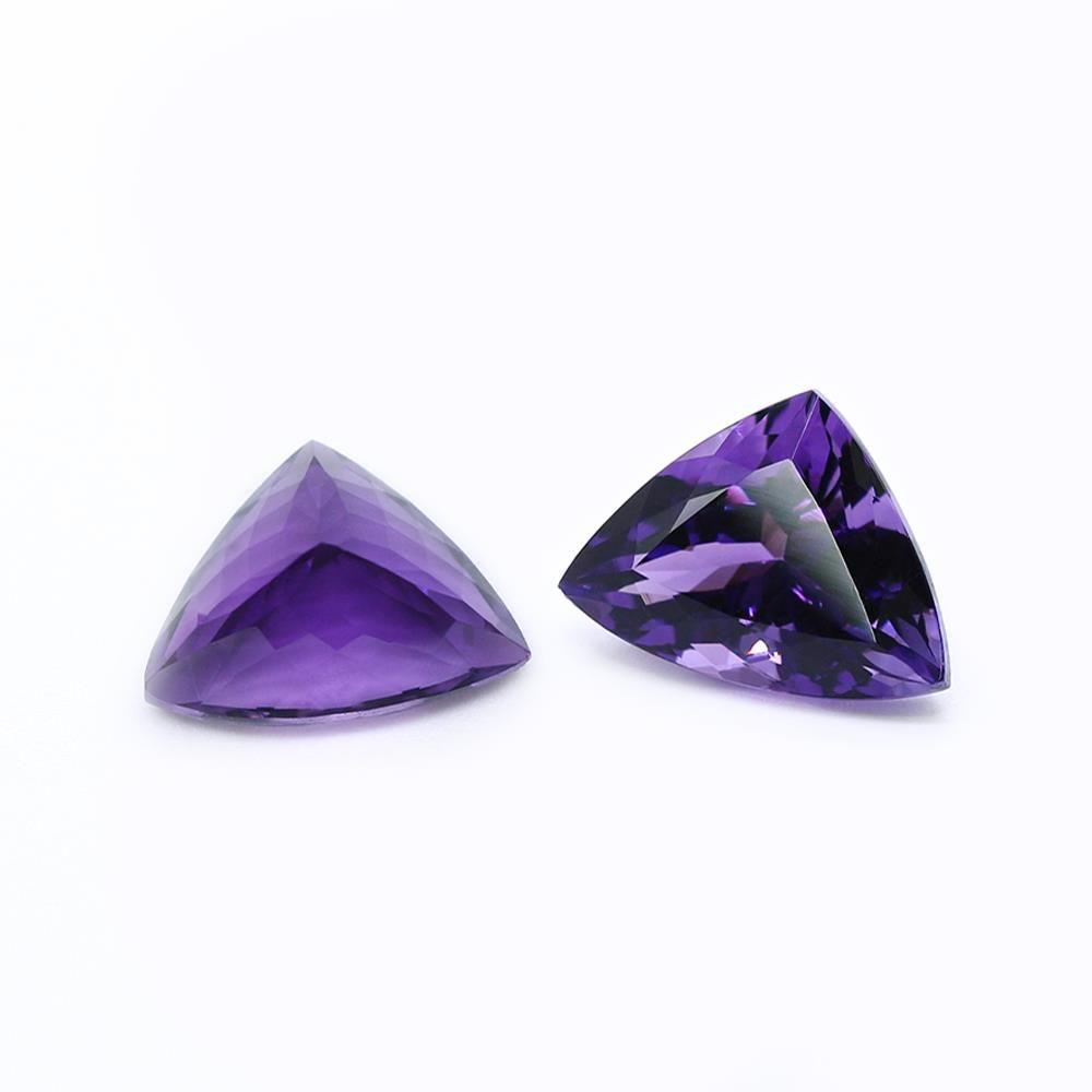 Amethyst (Brazilian) 15.70x11.80mm Triangle Fancy Cut (Good Color)