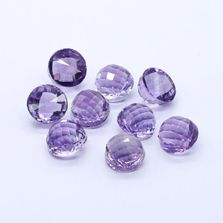 Amethyst (Brazilian) 13mm High Dome Faceted (Light Color)