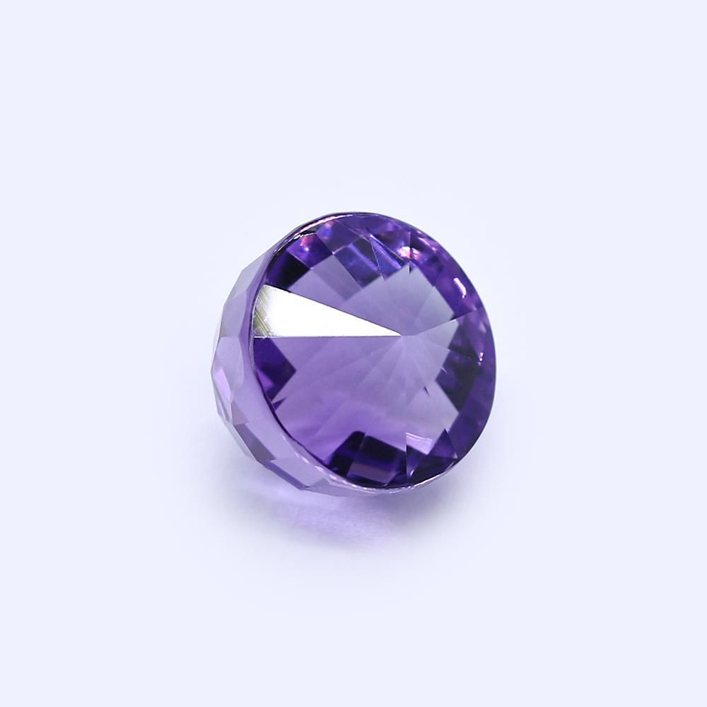 Amethyst (Brazilian) 13mm High Dome Faceted (Medium Color)