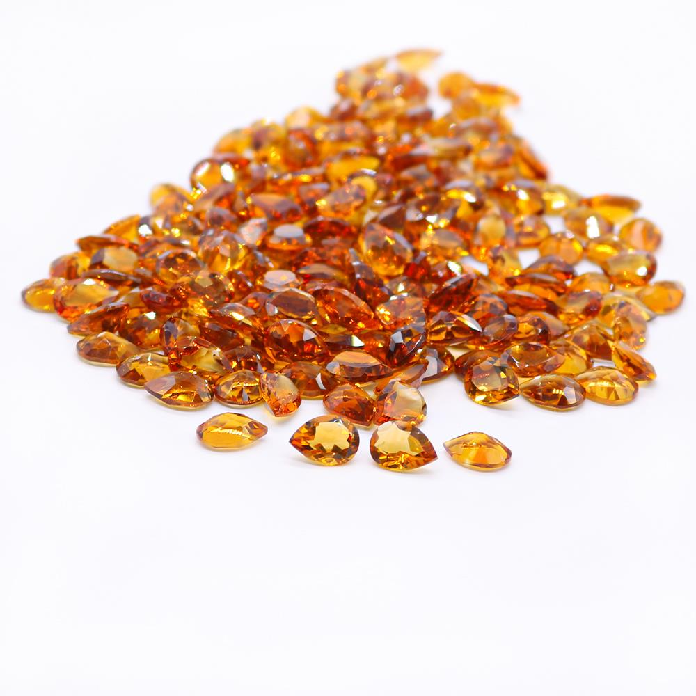 Madeira Citrine Pears Faceted