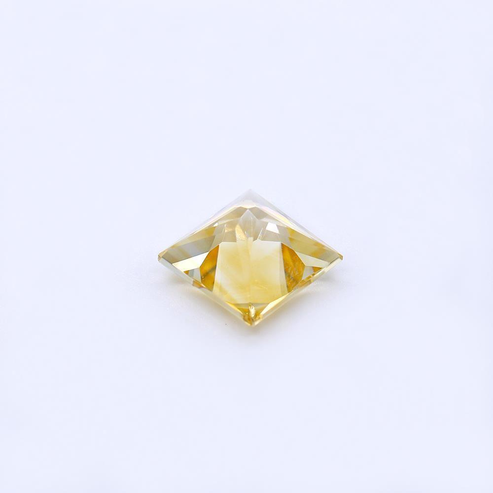 Citrine Square Princess Cut (Medium Color)