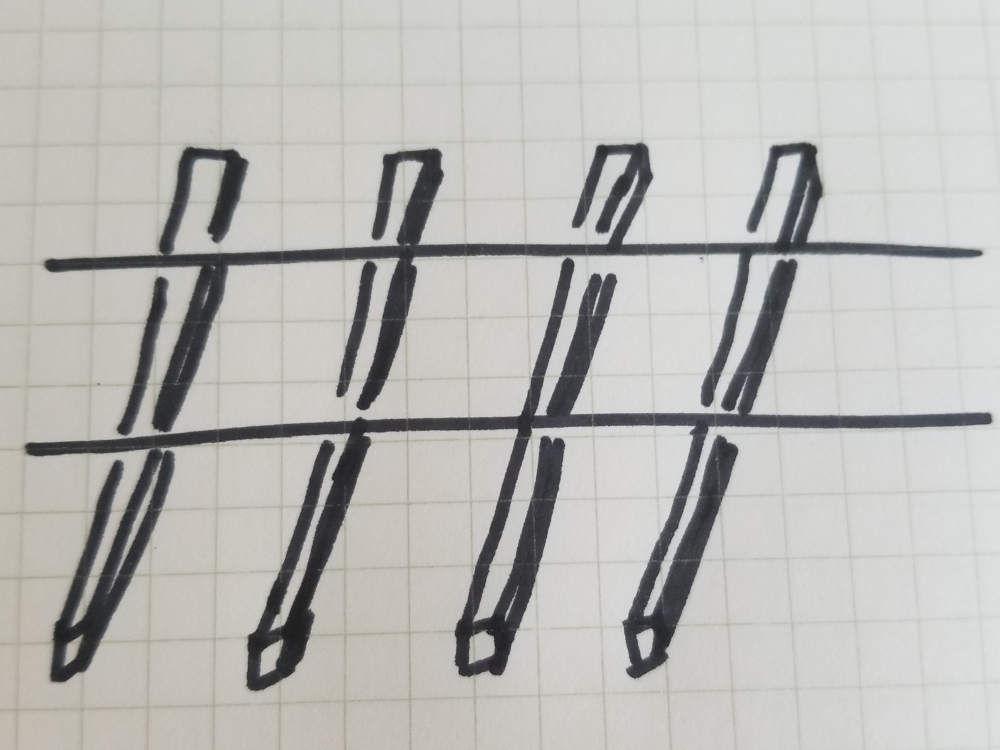 Drawing of sleepers